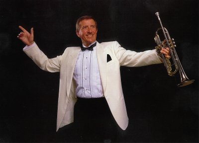 Roy Castle with trumpet