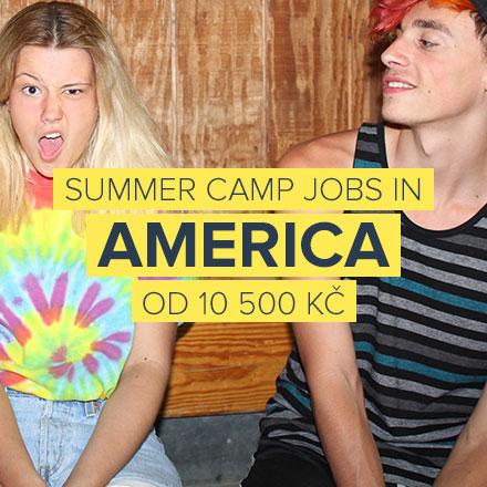 Léto v americkém táboře pro děti.