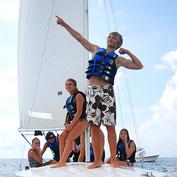 sailing activity at summer camp