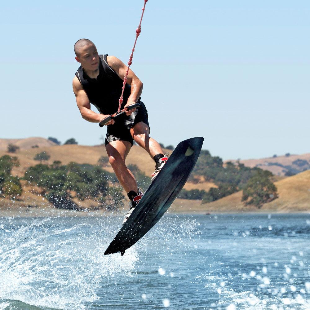 water skiing at summer camp
