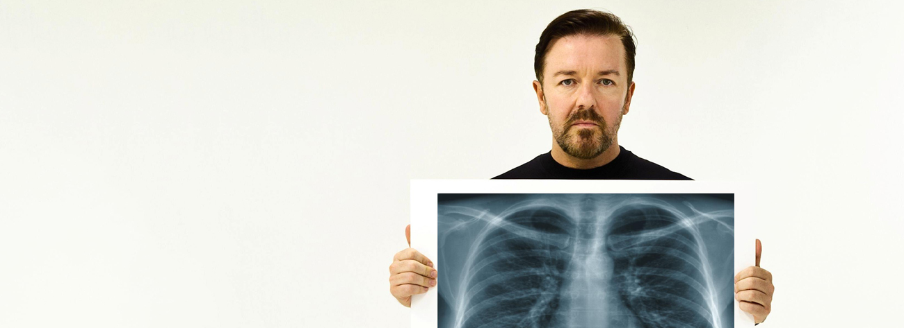 Comedian and actor Ricky Gervais supports our campaign for more lung cancer awareness -